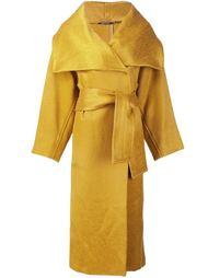 удлиненное пальто с поясом Maison Margiela
