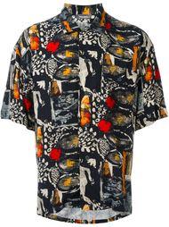 рубашка с короткими рукавами Issey Miyake Vintage
