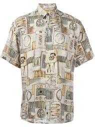 рубашка с абстрактным принтом Pierre Cardin Vintage