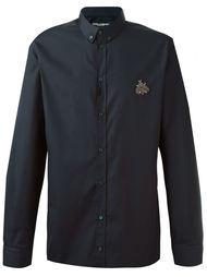 рубашка с аппликацией  Dolce & Gabbana
