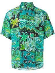 рубашка с тропическим принтом Kenzo Vintage