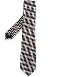 галстук с зигзагообразным узором Giorgio Armani