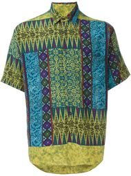 рубашка с этническим принтом Kenzo Vintage
