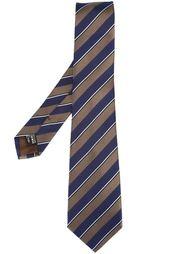 галстук в диагональную полоску Giorgio Armani