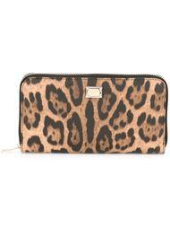 леопардовый кошелек 'Dauphine' Dolce & Gabbana