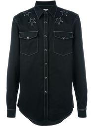 джинсовая рубашка со звездами Givenchy