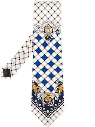 checked pattern tie Versace Vintage
