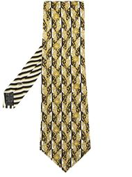 patterned tie Versace Vintage