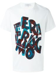 checked logo print T-shirt  Salvatore Ferragamo