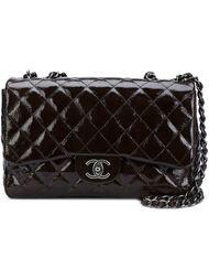 crackled leather jumbo flap bag Chanel Vintage