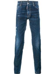 потертые джинсы кроя скинни  Dsquared2