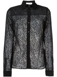 leopard effect sheer shirt  See By Chloé