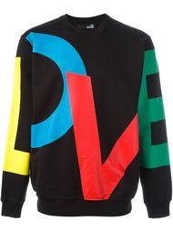 love print sweatshirt Love Moschino