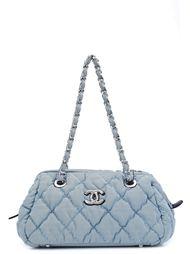 striped shoulder bag Chanel Vintage