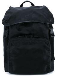 рюкзак 'Rockstud Noir'  с камуфляжным принтом  Valentino
