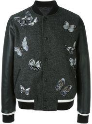 университетская куртка с вышивкой бабочек Valentino