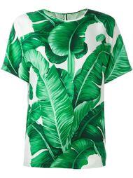 блузка с листенным принтом  Dolce & Gabbana