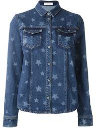 джинсовая рубашка со звездами Valentino