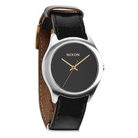 Часы Nixon Mod Leather Black/Silver/Gold
