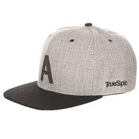 Бейсболка с прямым козырьком TrueSpin Abc Snapback Dark Grey/Black Leather-a