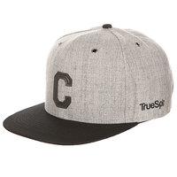 Бейсболка с прямым козырьком TrueSpin Abc Snapback Dark Grey/Black Leather-c