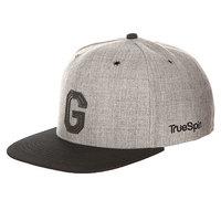 Бейсболка с прямым козырьком TrueSpin Abc Snapback Dark Grey/Black Leather-g