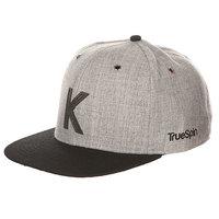 Бейсболка с прямым козырьком TrueSpin Abc Snapback Dark Grey/Black Leather-k