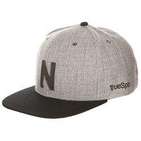 Бейсболка с прямым козырьком TrueSpin Abc Snapback Dark Grey/Black Leather-n