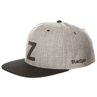 Бейсболка с прямым козырьком TrueSpin Abc Snapback Dark Grey/Black Leather-z