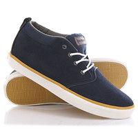 Кеды кроссовки высокие Quiksilver Griffin Suede Blue