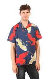 Stussy Cranes Shirt Navy