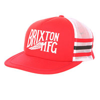 Бейсболка с сеткой Brixton Coventry Mesh Cap White/Red
