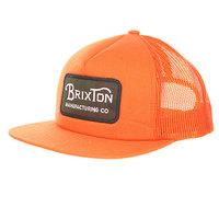 Бейсболка с сеткой Brixton Grade Mesh Cap Orange