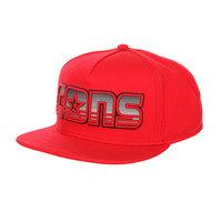 Бейсболка с прямым козырьком Converse Dart-Front Striped Logo Snapback Red
