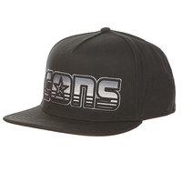 Бейсболка с прямым козырьком Converse Dart-Front Striped Logo Snapback Black