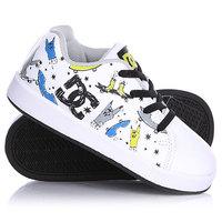 Кеды кроссовки детские DC Phos Toddlers White/Black/Print