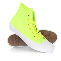 Кеды кроссовки высокие Converse Ct All Star II Hi Volt Volt Green