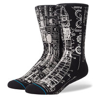 Носки средние Stance Anthem Blueprint Black