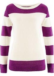 Пуловер (черный/экрю) Bonprix