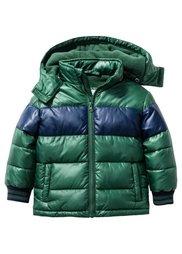 Куртка на ватной подкладке, Размеры  80/86-128/134 (темно-синий/светло-бирюзовый) Bonprix