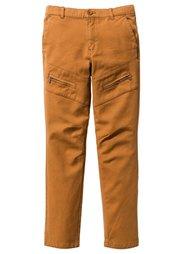 Брюки Slimfit с карманами на молнии, Размеры  116-170 (дымчато-серый) Bonprix