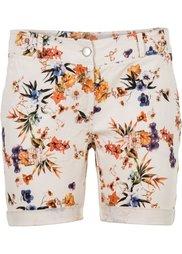 Узорчатые шорты (белый/синий в горошек) Bonprix