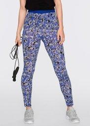 Функциональные облегающие брюки для бега (сапфирно-синий с рисунком) Bonprix