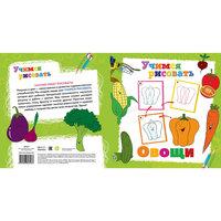 """Книга """"Овощи"""" Учимся рисовать Новый Диск"""