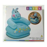 """Детское надувное кресло """"Веселые звери - Гиппопотам, Intex"""