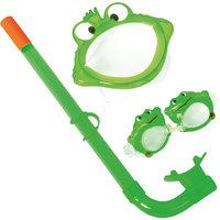 Набор для ныряния детский, морские животные, Bestway, зеленый