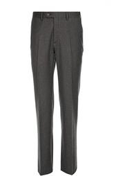 Классические шерстяные брюки с кожаной отделкой Brioni