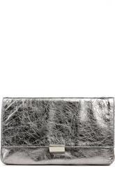 Клатч из металлизированной кожи на цепочке Coccinelle