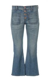 Укороченные расклешенные брюки с необработанным краем Rag&Bone Rag&;Bone