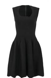 Приталенное мини-платье с круглым вырезом Alaia